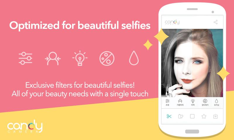 App optimizada para selfies